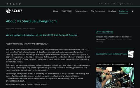 Screenshot of About Page startfuelsavings.com - About Us StartFuelSavings.com   | Start - captured Oct. 7, 2014