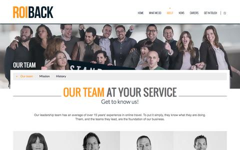 Screenshot of About Page Team Page roiback.com - Our team | Get to know us! | Roiback - captured Aug. 18, 2016