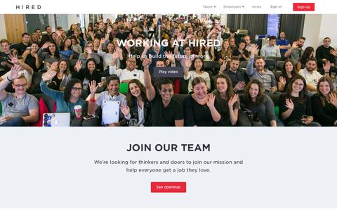 Careers at Hired - Join the Hired team! - Hired