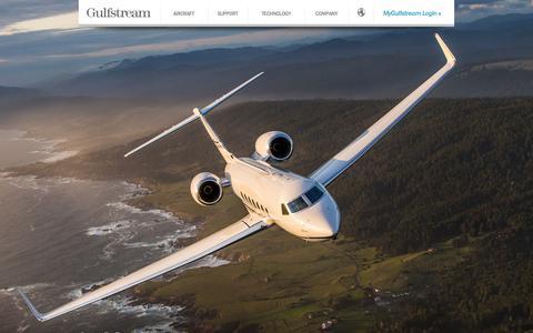 Screenshot of Home Page gulfstream.com - Gulfstream Aerospace - The World's Most Advanced Business Jet Aircraft - captured Aug. 5, 2015