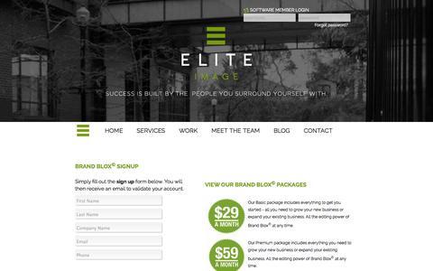 Screenshot of Trial Page eliteimage.ca - Elite Image Graphic Design, Marketing, Website, Software and Print Services - captured Oct. 2, 2014