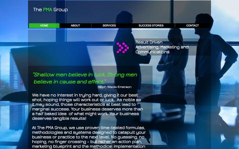 Screenshot of Home Page thepmagroup.net - the-pma-group - captured June 17, 2015