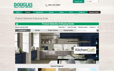 Screenshot of Products Page douglaslumber.com - Products | Home Improvement | Douglas Lumber, Kitchens and Home | Smithfield RI - captured July 15, 2019