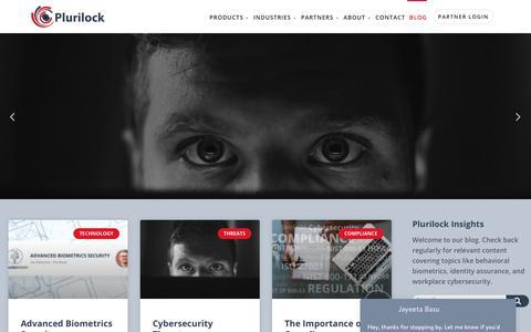 Screenshot of Blog plurilock.com - Blog - Plurilock - captured July 12, 2018