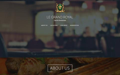 Screenshot of Home Page legrandroyal.net - Le Grand Royal – Cafe & Restaurant - captured March 1, 2016