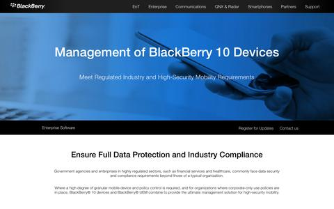 BlackBerry 10 MDM – Mobile Device Management - United States