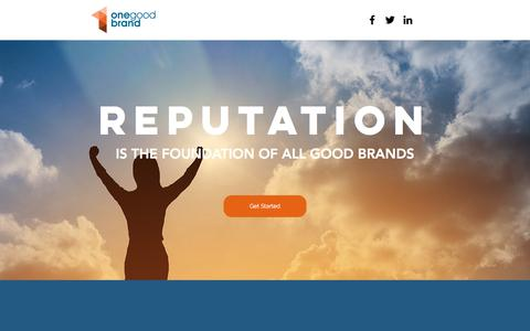 Screenshot of Home Page onegoodbrand.com - Reputation Management | United States | One Good Brand - captured June 14, 2017