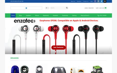 Screenshot of Home Page esrom.co.ke - Esrom Investments Limited – USB Speakers, Gaming Keyboards, Powerbanks, Computer Accessories - captured Aug. 21, 2017