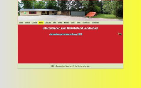 Screenshot of Press Page sportschuetzen-speicher.de - News - http://www.sportschuetzen-speicher.de/ - captured June 8, 2016