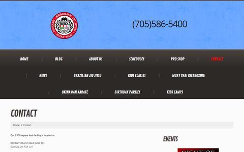 Screenshot of Contact Page sudburymma.com - Contact  |  Sudbury MMA - captured Oct. 29, 2014