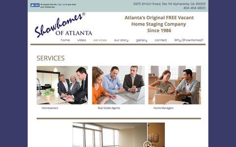Screenshot of Services Page showhomesofatlanta.com - Showhomes of Atlanta   services - captured Nov. 5, 2017