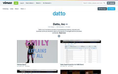 Datto, Inc on Vimeo