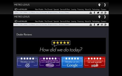 Screenshot of Support Page metrolexus.com - Metro Lexus | Cleveland | Lexus Dealer | Luxury Cars | Ohio - captured Jan. 10, 2016