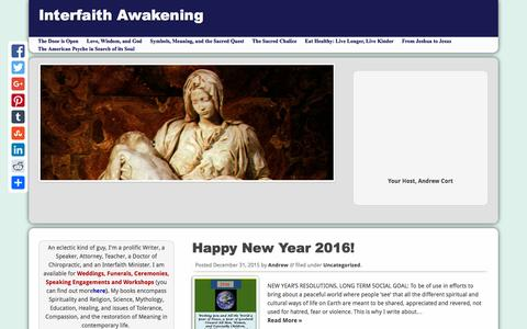 Screenshot of Home Page spirituality-and-religion.com - Spirituality and Religion - captured Jan. 15, 2016