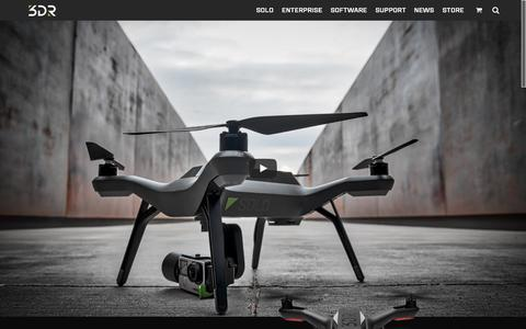 Screenshot of Home Page 3drobotics.com - 3DR - Drone & UAV Technology - captured Oct. 1, 2015
