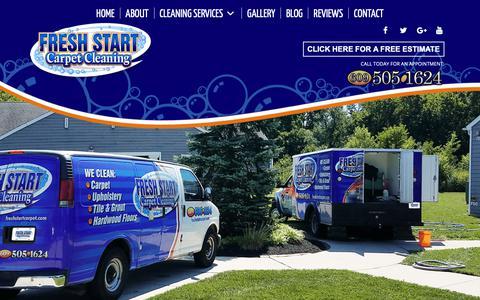 Screenshot of Home Page freshstartcarpet.com - Home | Fresh Start Carpet Cleaning | Carpet Cleaning | Upholstery Cleaning - captured Oct. 11, 2018