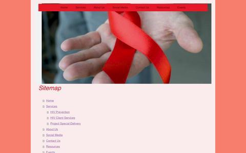 Screenshot of Site Map Page interioraids.org - Interior AIDS Association - Home - captured Oct. 6, 2014