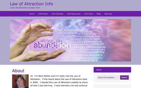 Screenshot of About Page law-of-attraction-info.com - About - Law of Attraction Info - captured Feb. 7, 2018