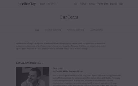 Screenshot of Team Page onefinestay.com - Our team – founders, executives and global leads | onefinestay - captured Dec. 11, 2015