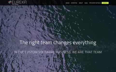Screenshot of Home Page eurekasoft.com - Home - Eureka Software - captured Sept. 20, 2018