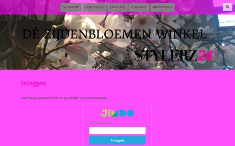 Screenshot of Login Page stylerz24.nl - Inloggen - De website van stylerz24! - captured Dec. 18, 2016