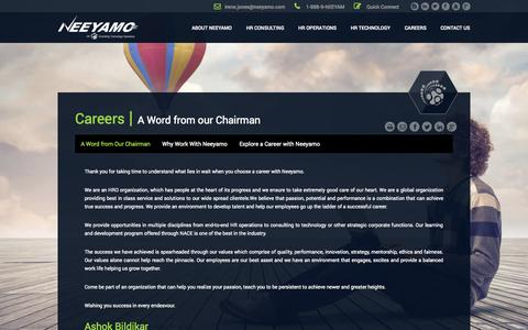 Screenshot of Jobs Page neeyamo.com - CAREERS - captured Oct. 7, 2014