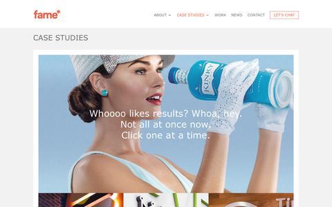 Screenshot of Case Studies Page fameretail.com - Case studies and client success stories   Fame Retail Agency - captured June 5, 2017