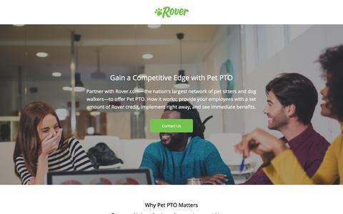 Screenshot of Landing Page rover.com captured Sept. 28, 2017