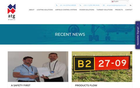 Screenshot of Press Page atgairports.com - Recent News - atg airports limited - captured July 31, 2018