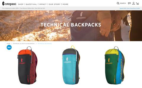 Technical Backpacks                      – Cotopaxi