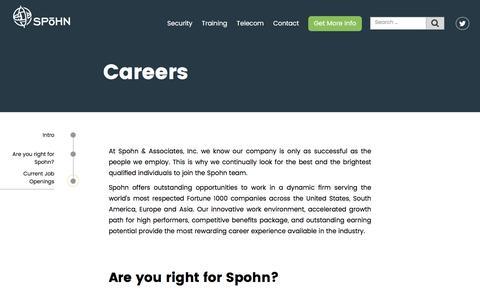 Screenshot of Jobs Page spohnsolutions.com - Careers - Spohn Solutions - captured Dec. 1, 2016
