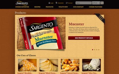 Screenshot of Products Page sargento.com - Products | Sargento ® - captured Oct. 4, 2014
