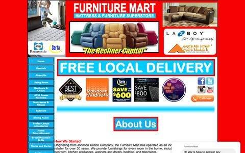 Screenshot of About Page furnituremartofroxboro.com - Furniture Mart - About Us - Roxboro, NC - captured May 15, 2019