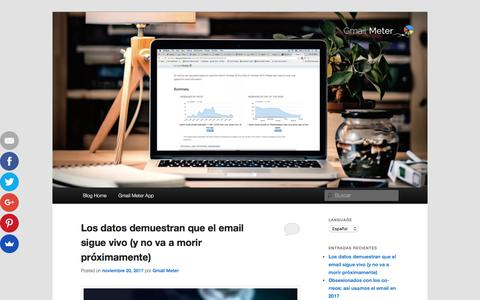 Screenshot of Blog gmailmeter.com - Gmail Meter Blog - captured Nov. 22, 2017