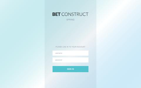 Screenshot of Login Page betconstruct.com - BetConstruct | BackOffice - captured Sept. 16, 2017