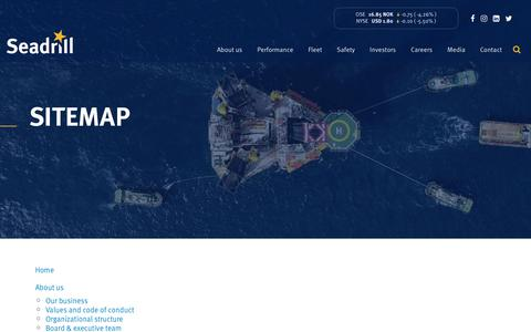 Screenshot of Site Map Page seadrill.com - Sitemap | Seadrill Limited (NYSE: SDRL - OSE: SDRL) - captured Jan. 13, 2020
