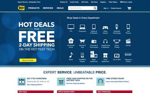 Screenshot of Home Page bestbuy.com - Best Buy: Expert Service. Unbeatable Price. - captured Dec. 17, 2015