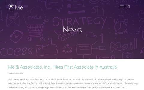 Screenshot of Press Page ivieinc.com - News | Ivie & Associates Inc - captured Nov. 3, 2014