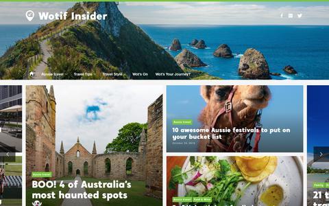 Screenshot of Blog wotif.com - Wotif Travel Blog | Wotif Insider - captured Nov. 4, 2019