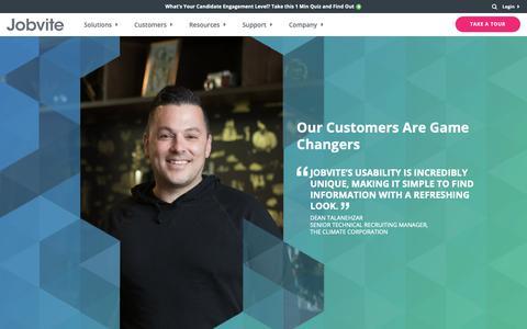 Screenshot of Case Studies Page jobvite.com - Jobvite Customers Realizing High Recruiting ROI - Jobvite - captured Oct. 23, 2018