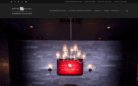 Screenshot of Home Page hotelduval.com - Hotel Duval - captured Dec. 12, 2015