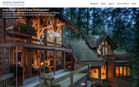 Screenshot of Home Page mkphotomedia.com - Vancouver Architectural Photography - Martin Knowles Photo/Media - captured Oct. 6, 2014
