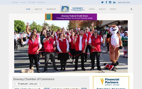 Screenshot of Home Page downeychamber.com - Downey Chamber of Commerce - Downey Chamber - captured Jan. 30, 2016