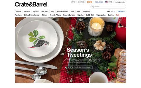 Screenshot of Home Page crateandbarrel.com - Furniture, Home Decor and Wedding Registry | Crate and Barrel - captured Dec. 1, 2015