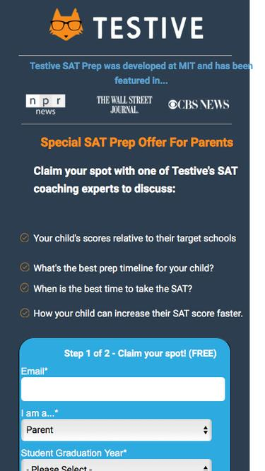Testive SAT Prep - Talk to an SAT coaching expert!