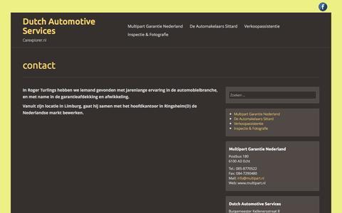 Screenshot of Contact Page carexplorer.nl - contact | Dutch Automotive Services - captured Feb. 9, 2016