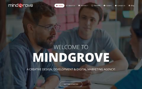 Screenshot of Home Page mindgrove.in - Web Design company in Udaipur - SEO in Udaipur - Web Development Company - MindGrove eSolutions - captured Dec. 20, 2016