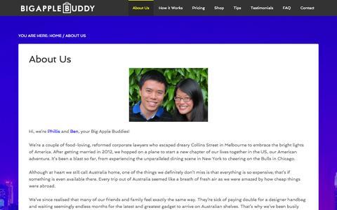 Screenshot of About Page bigapplebuddy.com - Meet the Big Apple Buddy Team - Big Apple Buddy - captured Sept. 30, 2014