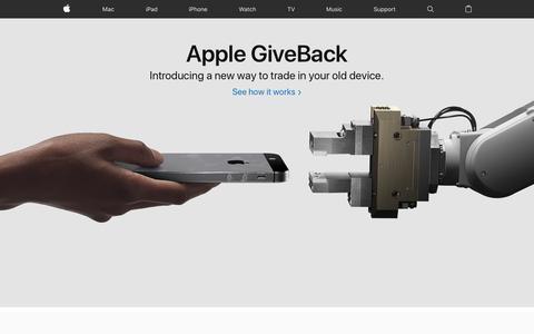 Screenshot of Home Page apple.com - Apple - captured April 22, 2018