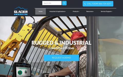 Screenshot of Home Page glaciercomputer.com - Rugged Industrial Tablets For Any Job - Glacier Computer - captured Sept. 28, 2018